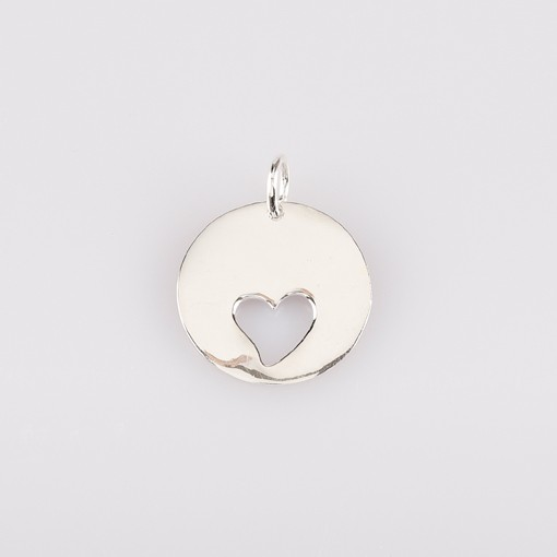 Round Pendant with Heart Cutout