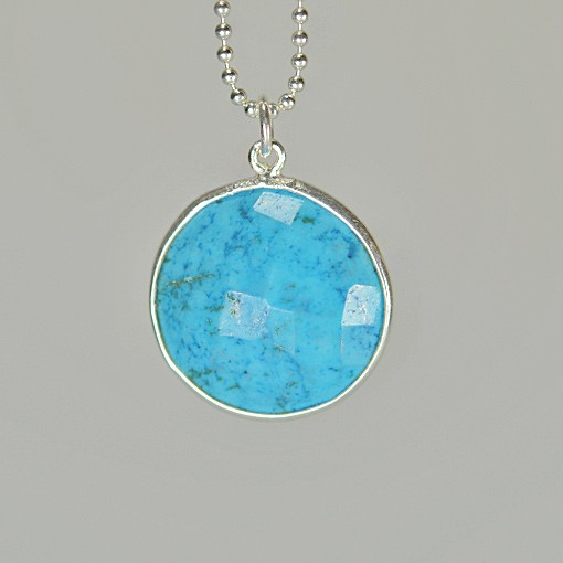 Howlite Turquoise Pendant