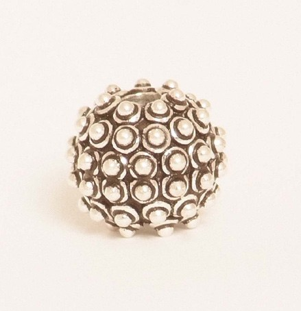 Ball Bead with Granulation Dots