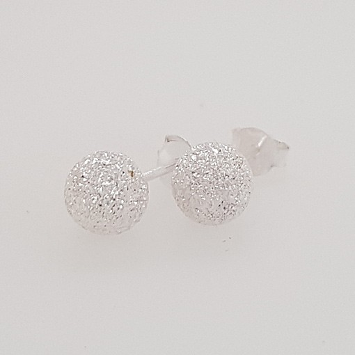 Stud Earrings with Stardust Finish