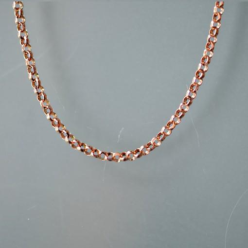 Silberkette, rosévergoldet