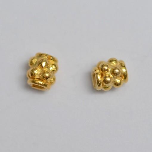 Perle, vergoldet