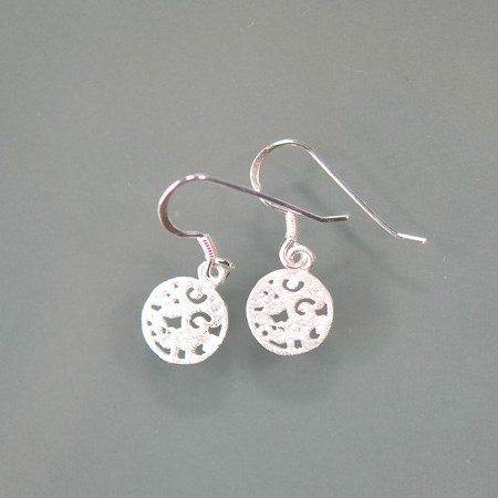 Earrings, Lily Pattern
