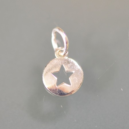 Round Charm with Star Cutout