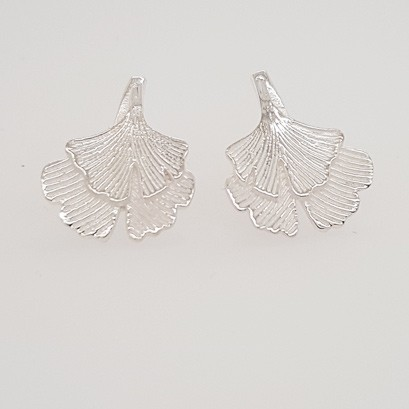 Stud Earrings Gingko Leaf