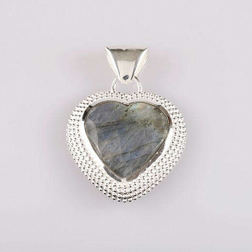 Heart Pendant with Labradorite