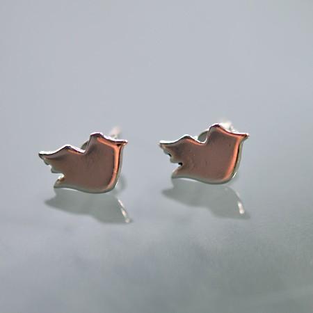Stud Earrings, Bird