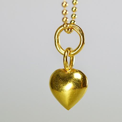 Herz vergoldet