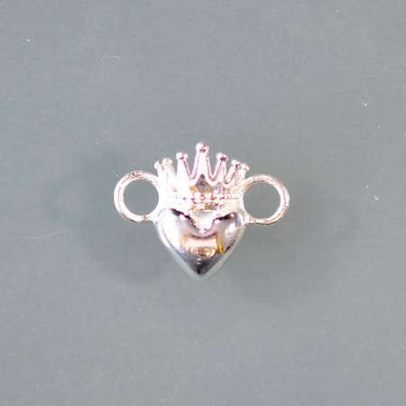 Heart with Crown Link