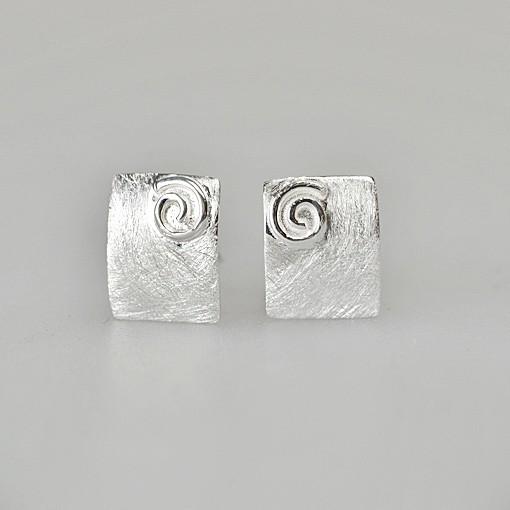 Stud Earrings Spiral