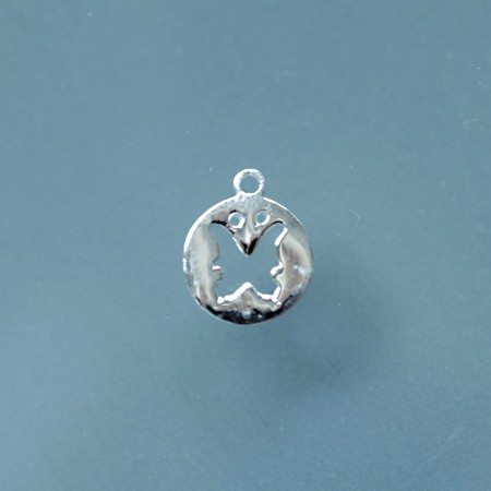 Round Charm with Butterfly