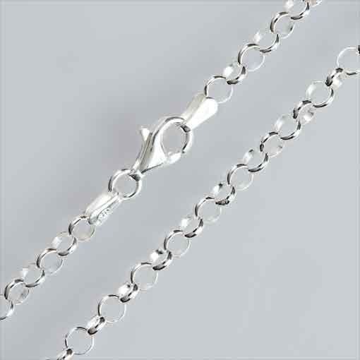 Erbskette, diamantiert, 3,5mm