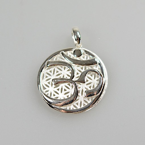 Flower of Life with Om Pendant