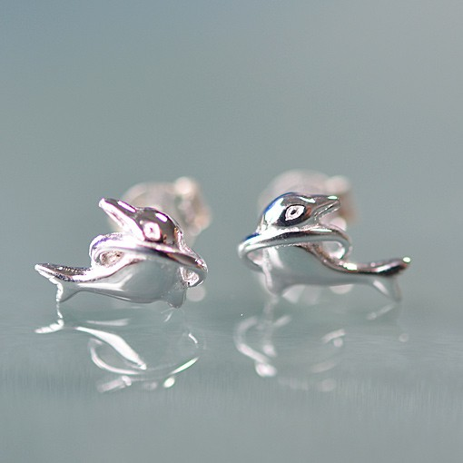 Stud Earrings Dolphin