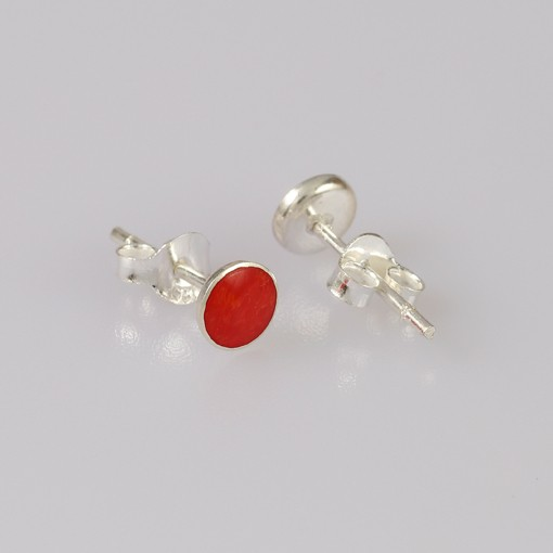 Stud Earrings Foam Coral, red