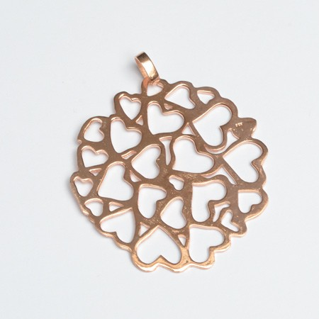 Pendant with Heart Cutout